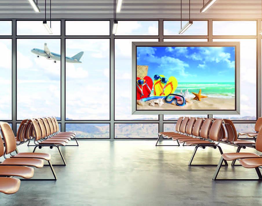 Werbetafel Flughafen